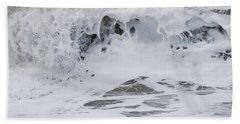 Beach Towel featuring the photograph Seafoam Wave by Jani Freimann