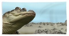 See You Later Alligator Beach Sheet by Ellen Henneke