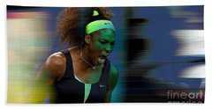 Serena Williams Beach Towel by Marvin Blaine