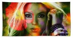 Shakira Beach Towel by Marvin Blaine