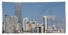 Skyline Miami Beach Towel by Christiane Schulze Art And Photography