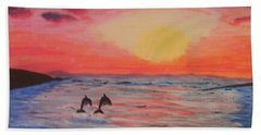 2 Souls Reunited Beach Sheet by Thomasina Durkay