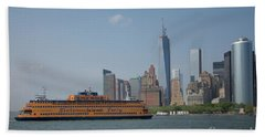 Staten Island Ferry Beach Sheet by Carol Ailles