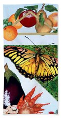 Still Life With Moth #1 Beach Sheet