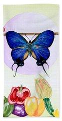 Still Life With Moth #2 Beach Sheet