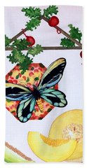 Still Life With Moth #3 Beach Sheet