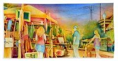 Street Art Fair Beach Towel