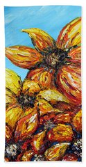 Beach Towel featuring the painting Sunrise by Meaghan Troup