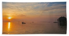 Sunrise On The Chesapeake Bay Beach Sheet