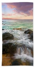 Sunrise Surge Beach Towel by Mike  Dawson
