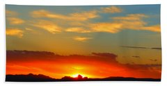 Sunset In The Desert Beach Towel