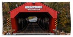 Taftsville Covered Bridge Vermont 2 Beach Towel