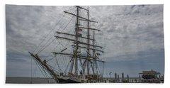 Tall Ship Gunilla Beach Sheet by Dale Powell