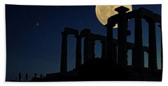 Temple Of Poseidon  Beach Towel