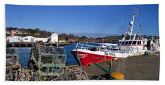 The Fishing Harbour, Dunmore East Beach Towel