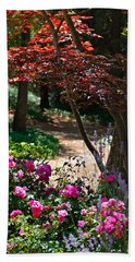 The Garden Path Beach Towel by Michele Myers