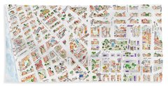 The Greenwich Village Map Beach Towel
