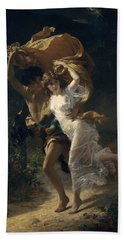 Beach Towel featuring the painting The Storm by Pierre Auguste Cot