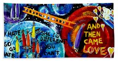 Beach Towel featuring the painting Then Came Love by Jackie Carpenter
