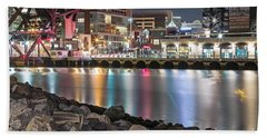 Third Street Bridge Beach Towel by Kate Brown