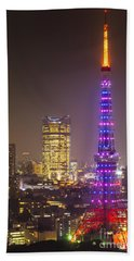 Tokyo Tower - Tokyo - Japan Beach Towel by Luciano Mortula
