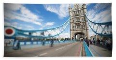 Tower Bridge In London Beach Towel by Chevy Fleet