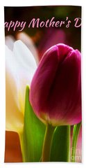 2 Tulips For Mother's Day Beach Towel