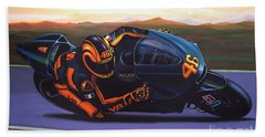 Valentino Rossi On Ducati Beach Towel