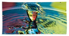 Water Splash Having A Bad Hair Day Beach Towel