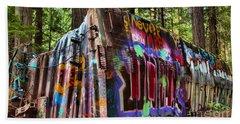 Whistler Train Wreck Box Car Beach Towel