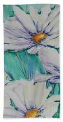 Beach Towel featuring the painting Wild Daisys by Chrisann Ellis