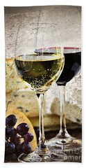 Wine And Cheese Beach Towel