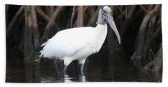 Beach Sheet featuring the photograph Wood Stork In The Swamp by Christiane Schulze Art And Photography