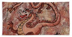 Year Of The Dragon Beach Sheet by Darice Machel McGuire