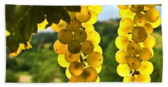 Yellow Grapes Beach Sheet by Elena Elisseeva