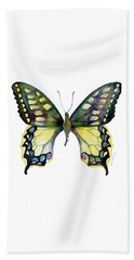 20 Old World Swallowtail Butterfly Beach Towel
