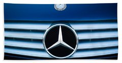 2003 Cl Mercedes Hood Ornament And Emblem Beach Towel