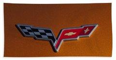 2007 Chevrolet Corvette Indy Pace Car Emblem Beach Towel