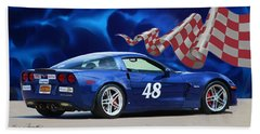 2007 Z06 Corvette Beach Towel