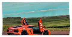 2012 Lamborghini Aventador Beach Towel