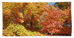 Fall Explosion Of Color Beach Sheet