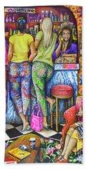 Shop Talk Beach Towel by Linda Simon