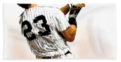 23   Don Mattingly  Beach Towel by Iconic Images Art Gallery David Pucciarelli