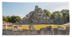 Edzna In Campeche Beach Sheet by Carol Ailles