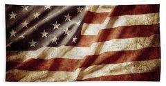 American Flag 53 Beach Sheet