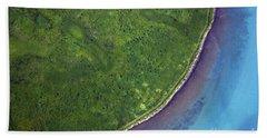 Iceland Aerial Photo Beach Towel