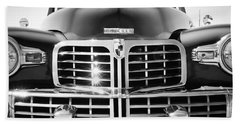 1948 Lincoln Continental Grille Emblem Beach Towel