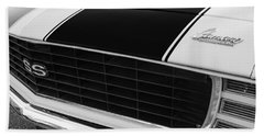 1969 Chevrolet Camaro Rs-ss Indy Pace Car Replica Grille - Hood Emblems Beach Towel
