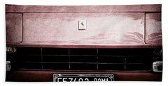 1972 Ferrari 365 Gtb-4a Grille Emblem Beach Towel