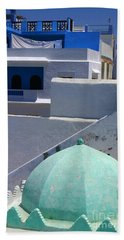 Beach Sheet featuring the photograph Asilah Meaning Authentic In Arabic Fortified Town On Northwest Tip Of Atlantic Coast Of Morocco by Ralph A  Ledergerber-Photography
